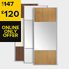 Mix and Match 3 Panel Sliding Wardrobe Doors