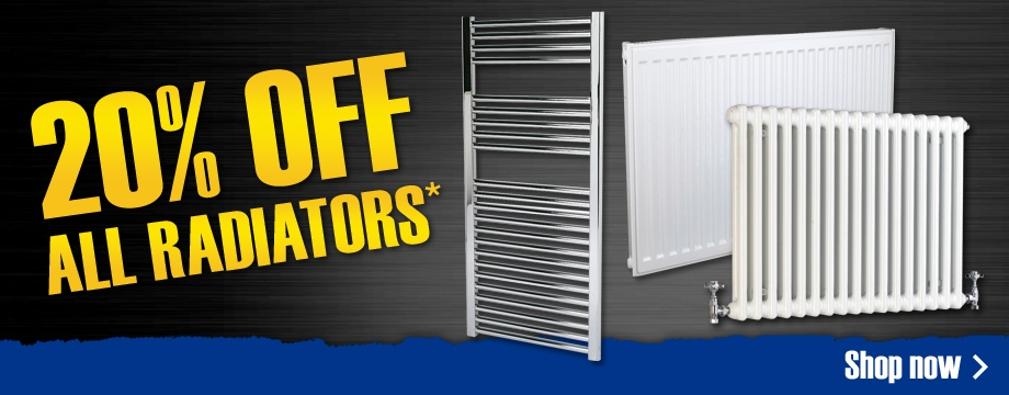 20% off radiators