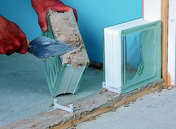 How To Build A Glass Block Wall Ideas Amp Advice Diy At B Amp Q