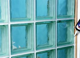 How to build a glass block wall help ideas diy at b q - Glass bricks designs walls ...