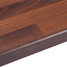 38mm Walnut Butchers Block Wood Effect Round Edge