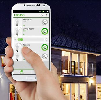 turning on WeMo lighting through a smart phone