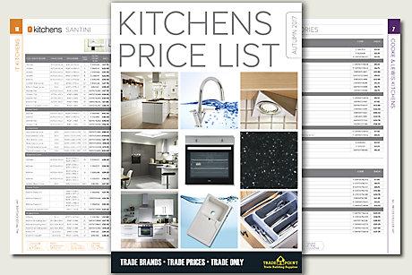 Kitchens Price List