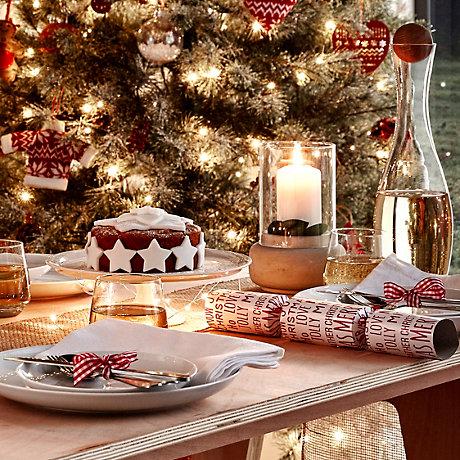 table set for christmas