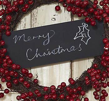merry christmas chalkboard message