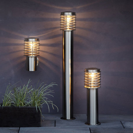 Clipper outdoor post and wall lights