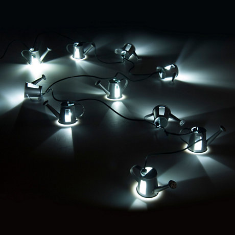 Watering can string party lights
