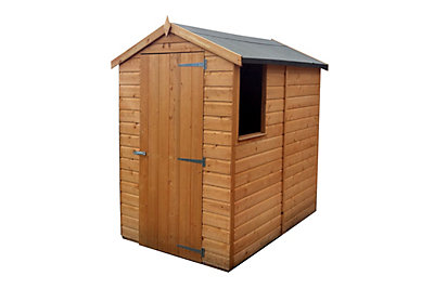 6X4 Apex Shiplap Wooden Shed - Assembly Required