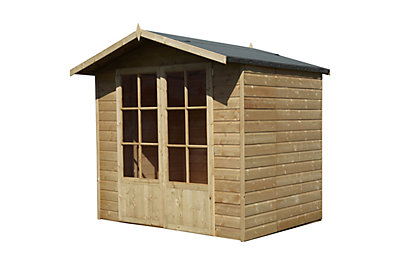Lumley 7X5 Shiplap Timber Summerhouse - Assembly Required