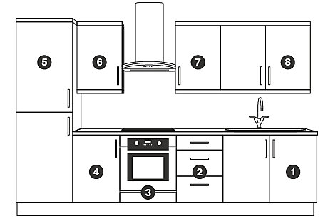 New kitchen ranges units with up to a 10 year guarantee for Cheap kitchen base units 600mm