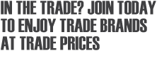 Sign up to TradePoint and get up to 10% off. GREAT TRADE BRANDS