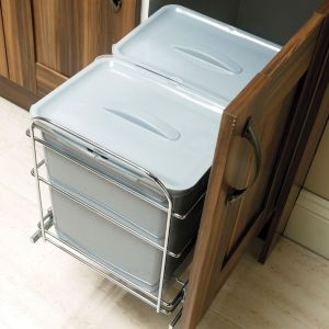 View IT Kitchens 32 L Metal & Plastic Pull Out Recycle Bin details