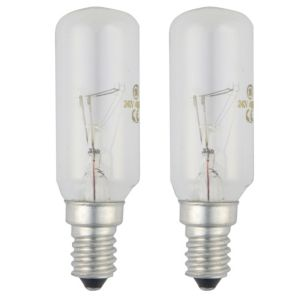 View GE Small Edison Screw (E14) 40W Incandescent Appliance Light Bulb, Pack of 2 details
