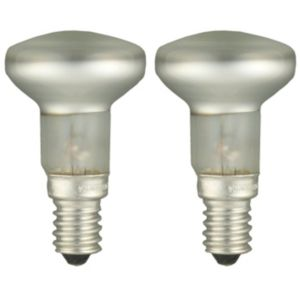 View GE Small Edison Screw (E14) 30W Halogen R39 Spot Light Bulb, Pack of 2 details
