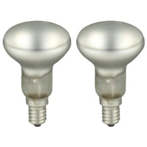 View GE Small Edison Screw (E14) 40W Halogen R50 Spot Light Bulb, Pack of 2 details