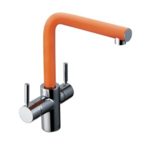 View Insinkerator 3N1 Orange Steel Effect Steaming Hot & Cold Water Tap details