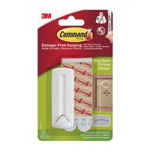 View 3M Command White Adhesive Wire-Backed Picture Hanger, 4 Pieces details