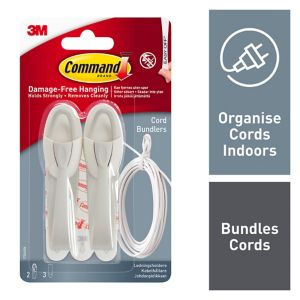 View 3M Command White Plastic Cord Bundlers, Pack of 2 details