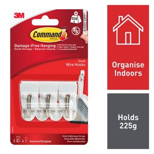 View 3M Command White Adhesive Utensil Hook (L)40mm, Pack of 3 details
