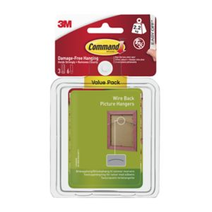 View 3M Command White Adhesive Wire-Backed Picture Hanger (L)75mm details