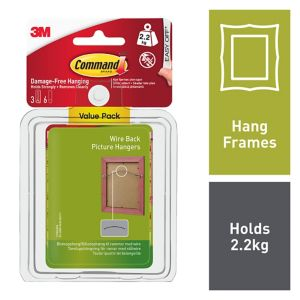 View 3M Command White Plastic Wire Backed Picture Hanger, Pack of 3 details