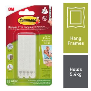 View 3M Command White Foam Picture Hanging Strips, Set of 4 details