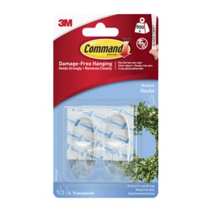 Image of 3M Command Plastic Hooks & Fittings Pack of 2