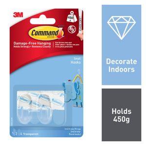 3M Command Plastic Hooks  Pack of 2