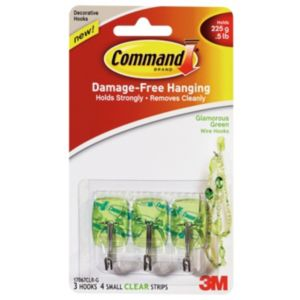 3M Command Green Plastic Hooks  Pack of 3