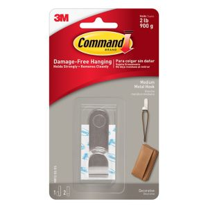 Image of 3M Command Modern Silver Metal Medium hook