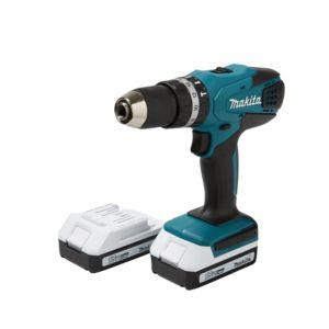 Makita Cordless 18V 1.3Ah LiIon Combi Drill 2 Batteries HP457DWEX2
