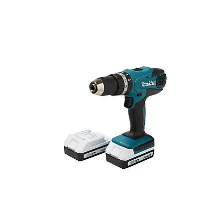 makita cordless 18v 1 3ah li ion combi drill 2 batteries. Black Bedroom Furniture Sets. Home Design Ideas