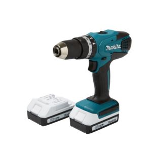 View Makita Cordless 18V Li-Ion Combi Drill 2 Batteries HP457DWEX2 details