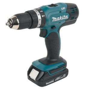 View Makita LXT Cordless 18V Li-Ion Combination Drill 2 Batteries DHP453SYE details