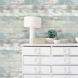 Image of Wallpops Beachwood Grey Peel & stick wallpaper (L)5500mm (W)520mm