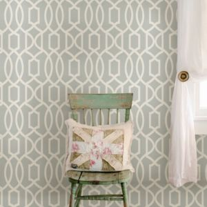 Image of Wallpops Grand trellis Grey Peel & stick wallpaper (L)5500mm (W)520mm