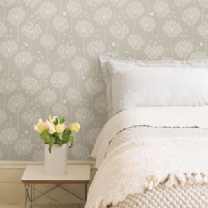 Image of Wallpops Dandelion Taupe Peel & Stick Wallpaper (L)5500mm (W)520mm
