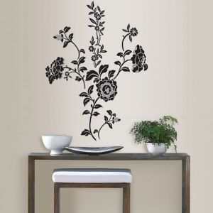 Image of Wallpops Brocade Multicolour Self Adhesive Wall Sticker (H)1170mm (W)1090mm