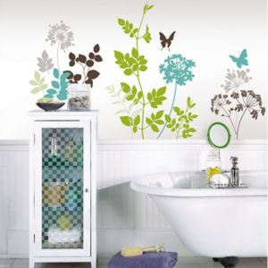 Image of Wallpops Habitat Multicolour Self Adhesive Wall Sticker (H)860mm (W)940mm