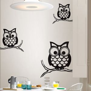 Photo of Wallpops give a hoot black self adhesive wall sticker -h-740mm -w-740mm