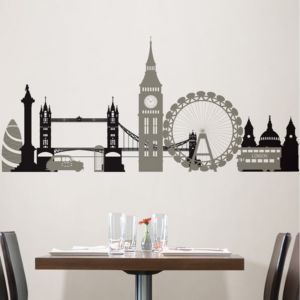 Photo of Wallpops london calling black self adhesive wall sticker -h-42cm -w-90cm