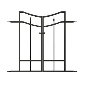 Image of Panacea Steel Arched finials Gate (H)0.82m (W)0.47 m
