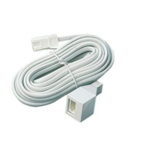 View White Plastic Telephone Cable 5m details