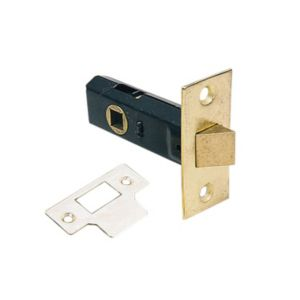 Image of 75mm Electro-plated brass 1 Lever Tubular latch