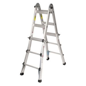 View B&Q Aluminium 3-Way Telescopic Telescopic Combination Ladder, (H)2.74M details