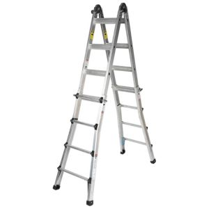 View B&Q Aluminium 2-Way Telescopic Telescoptic Combination Ladder, (H)4.43M details