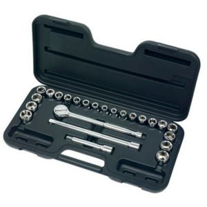 View Chrome Vanadium Steel Socket Set, Set of 24 details