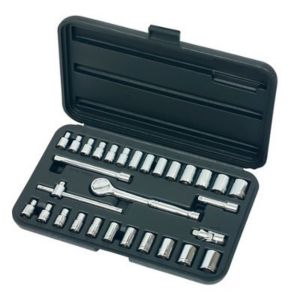 View Chrome Vanadium Steel Socket Set, Set of 30 details