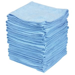 View B&Q Light Blue Microfibre Cloth Pack of 50 details