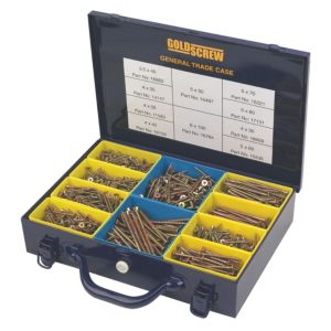 Image of Goldscrew Carbon Steel General Trade Case Pack of 1400